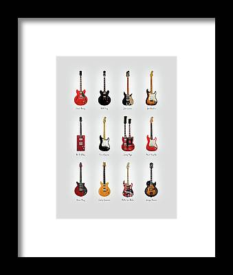 Rock And Roll Jimmy Page Framed Prints