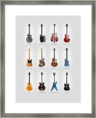 Guitar Icons No3 Framed Print by Mark Rogan
