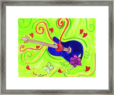 Sound Of Swirls Framed Print