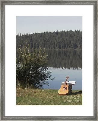 Guitar Lake Framed Print