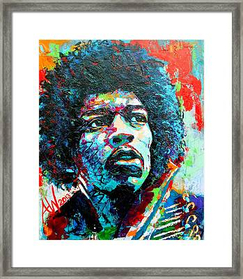 Guitar Legend Framed Print