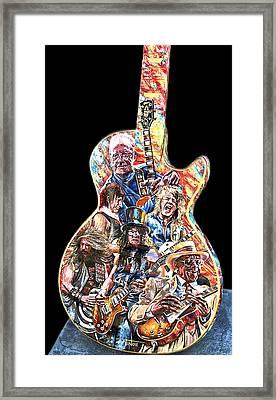 Guitar Legends Picking A Gibson Framed Print