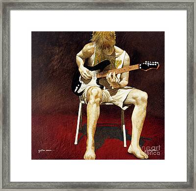 Guitar Man... Framed Print
