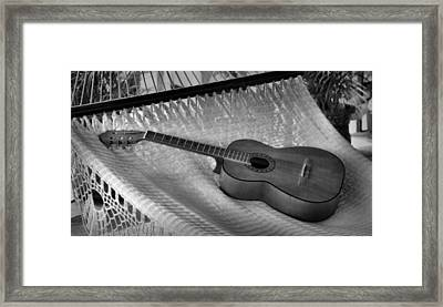 Guitar Monochrome Framed Print by Jim Walls PhotoArtist