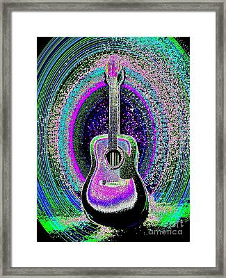 Guitar On The Stage Framed Print by Jasna Gopic