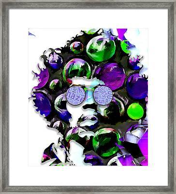 Rock Star Jimi Hendrix Framed Print