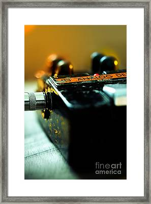 Guitar Pedal Framed Print