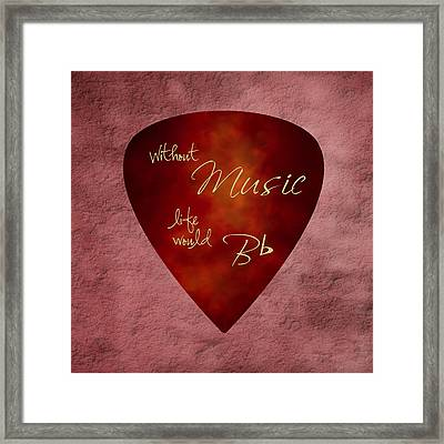 Guitar Pick - Without Music Framed Print by Tom Mc Nemar