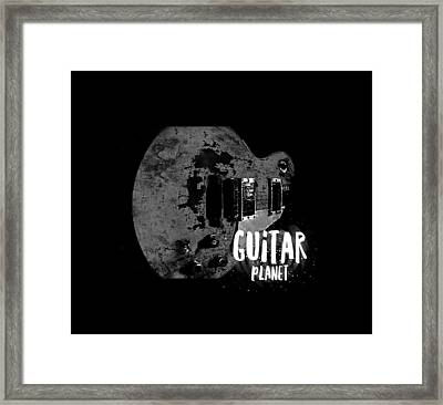 Framed Print featuring the photograph Guitar Planet  by Guitar Wacky