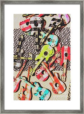 Guitar Playtime Framed Print