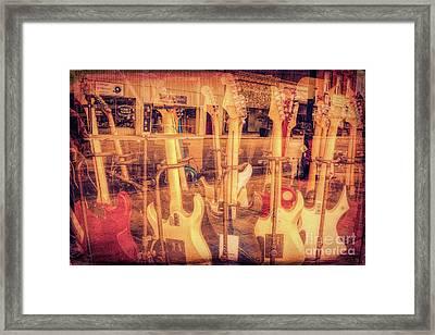 Guitar Reflections Framed Print