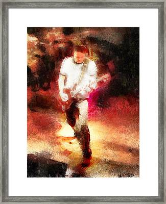 Guitar Rock Framed Print