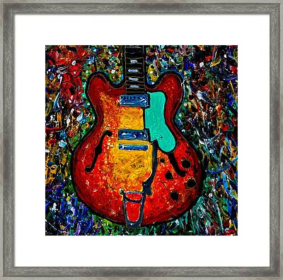 Guitar Scene Framed Print