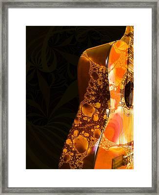 Guitar - Shape - Musical Instruments Framed Print