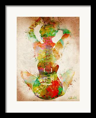 Guitar Framed Prints