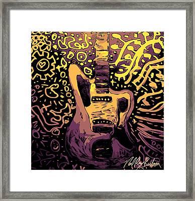 Guitar Slinger Framed Print