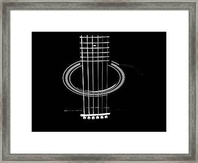 Guitar Strings Framed Print by Susan Stone