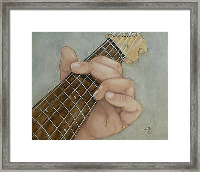 Guitar Strumming In 'g' Cord Framed Print