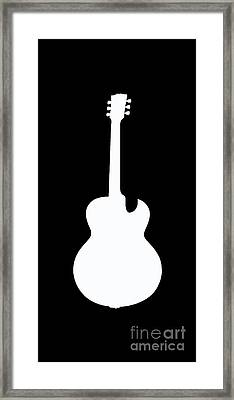 Guitar Tee Framed Print by Edward Fielding