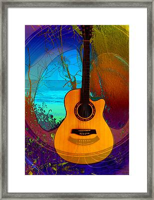 Framed Print featuring the digital art Guitar Tree by Shadowlea Is