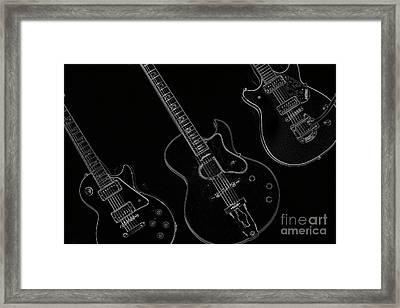 Guitar Trio Framed Print by Karol Livote