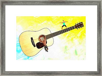 Guitar Workout Framed Print by Anthony Caruso
