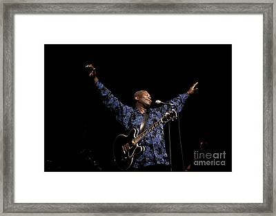 Guitarist Bb King Framed Print by Concert Photos