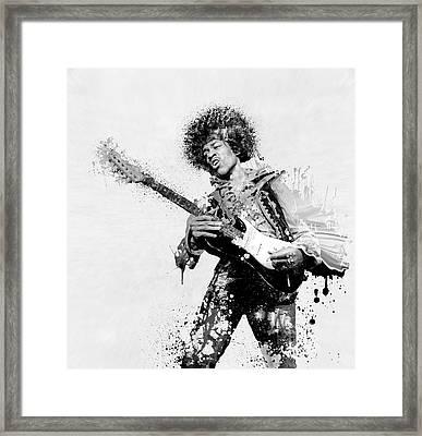 Guitarist Framed Print by Daniel Hagerman