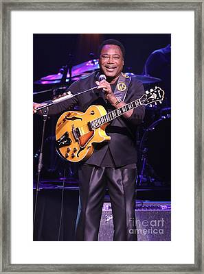 Guitarist George Benson Framed Print by Concert Photos