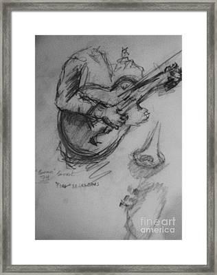 Guitarist Framed Print by Jamey Balester