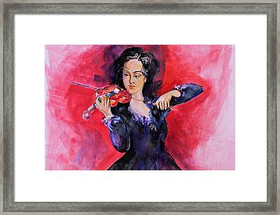 Playing On Voilin Framed Print