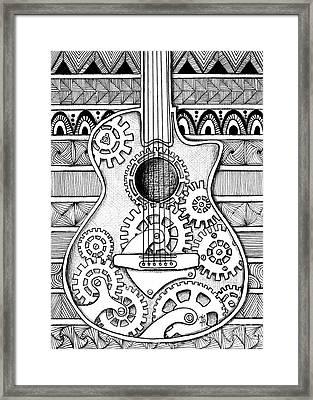 Guitarra No 2 Framed Print by Delein Padilla