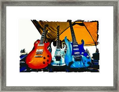 Guitars At Intermission Framed Print by David Patterson