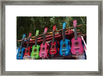 Guitars In Old Town San Diego Framed Print