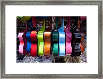 Guitars Framed Print by Mike Herdering