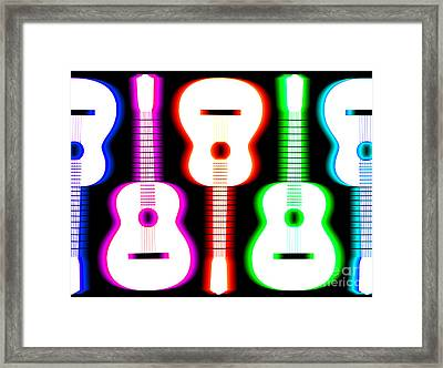 Guitars On Fire 5 Framed Print