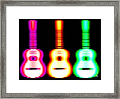 Guitars On Fire Framed Print