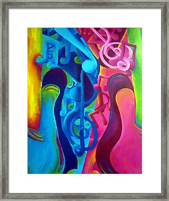 Guitars Framed Print by Shasta Miller