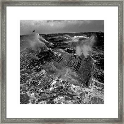 Guitarwreck Grayscale Framed Print