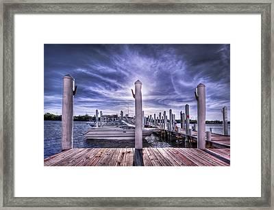 Gulf Coast Blues Framed Print by Evelina Kremsdorf