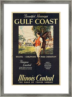 Gulf Coast - Illinois Central - Vintage Poster Vintagelized Framed Print