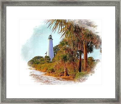 Gulf Coast Lighthouse 1 Framed Print by Marty Koch