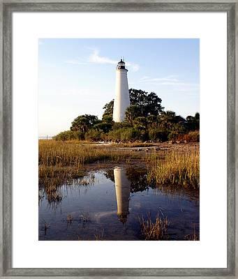 Gulf Coast Lighthouse Framed Print by Marty Koch