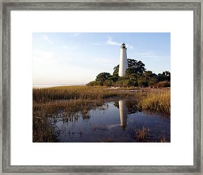 Gulf Coast Lighthouse2  Framed Print by Marty Koch