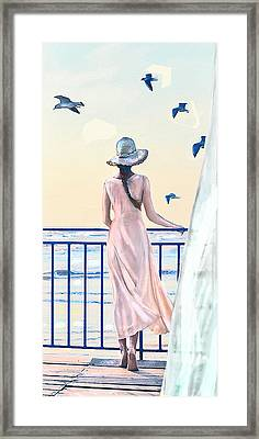 Framed Print featuring the digital art Gulf Coast Morning by Jane Schnetlage