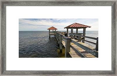 Gulf Coast Pier Framed Print