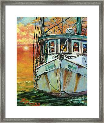 Gulf Coast Shrimper Framed Print
