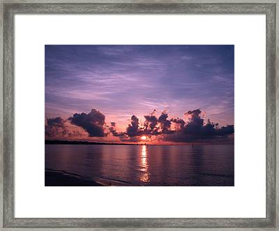 Gulf Coast Sunrise Framed Print