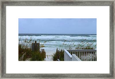 Gulf Coast Waves Framed Print by Debra Forand