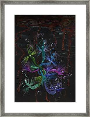 Gulf Glop Clean Up Framed Print